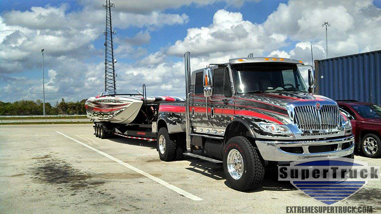 Extreme SuperTruck at Miami Boat Show Poker Run