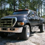 Large Black Ford Pickup Exterior