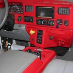 Red dash with gray interior