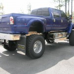 F650 Blue Xtreme Supertruck exterior rear view of bed