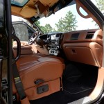 Xtreme Utility Vehicle with custom suede headliner interior, full interior color change to match the Bentley leather, leather convertible bed/bench