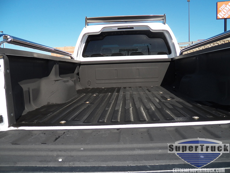 Large White Ford Pickup Bed