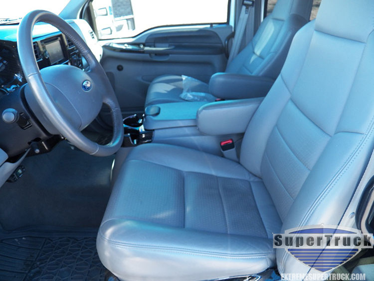 Ford F650 leather interior