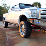 White Knight Custom F350 Ford